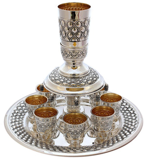 Buot Agol 8-Cup Sterling Wine Fountain