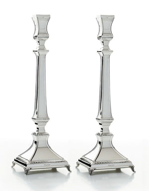 "Aruzis 14"" Sterling Candlesticks"