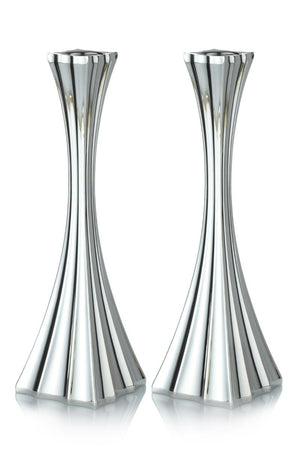 "Galil Smooth 7.75"" Sterling Candlesticks"