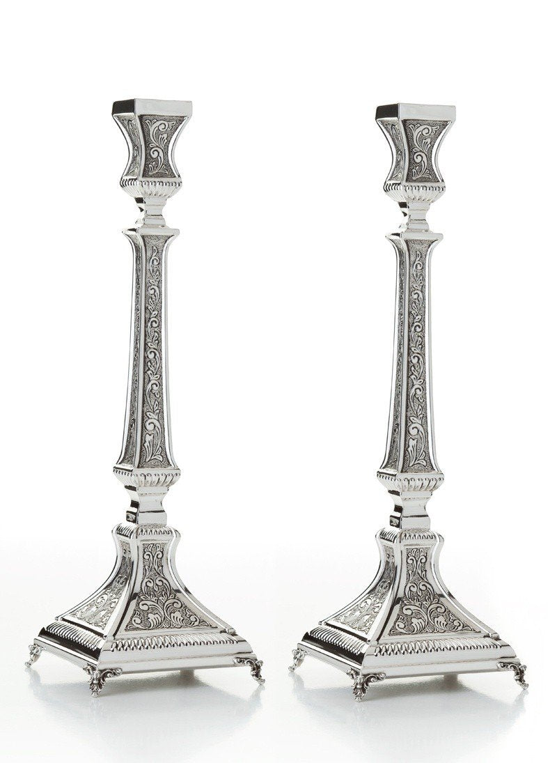 "11.25"" Aruzis Chased Candlesticks"