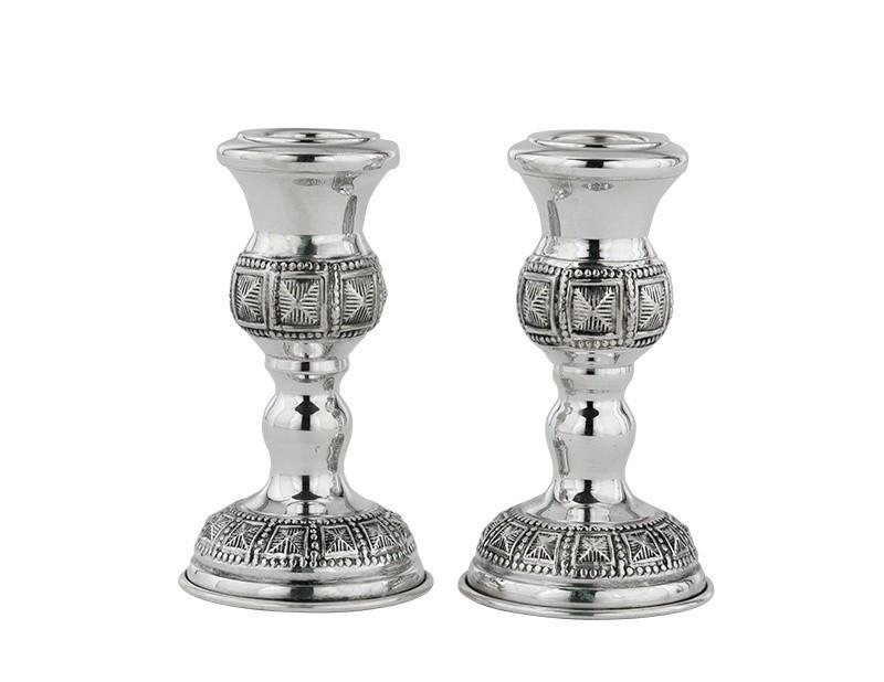 "Choshen 3.5"" Sterling Candlesticks"