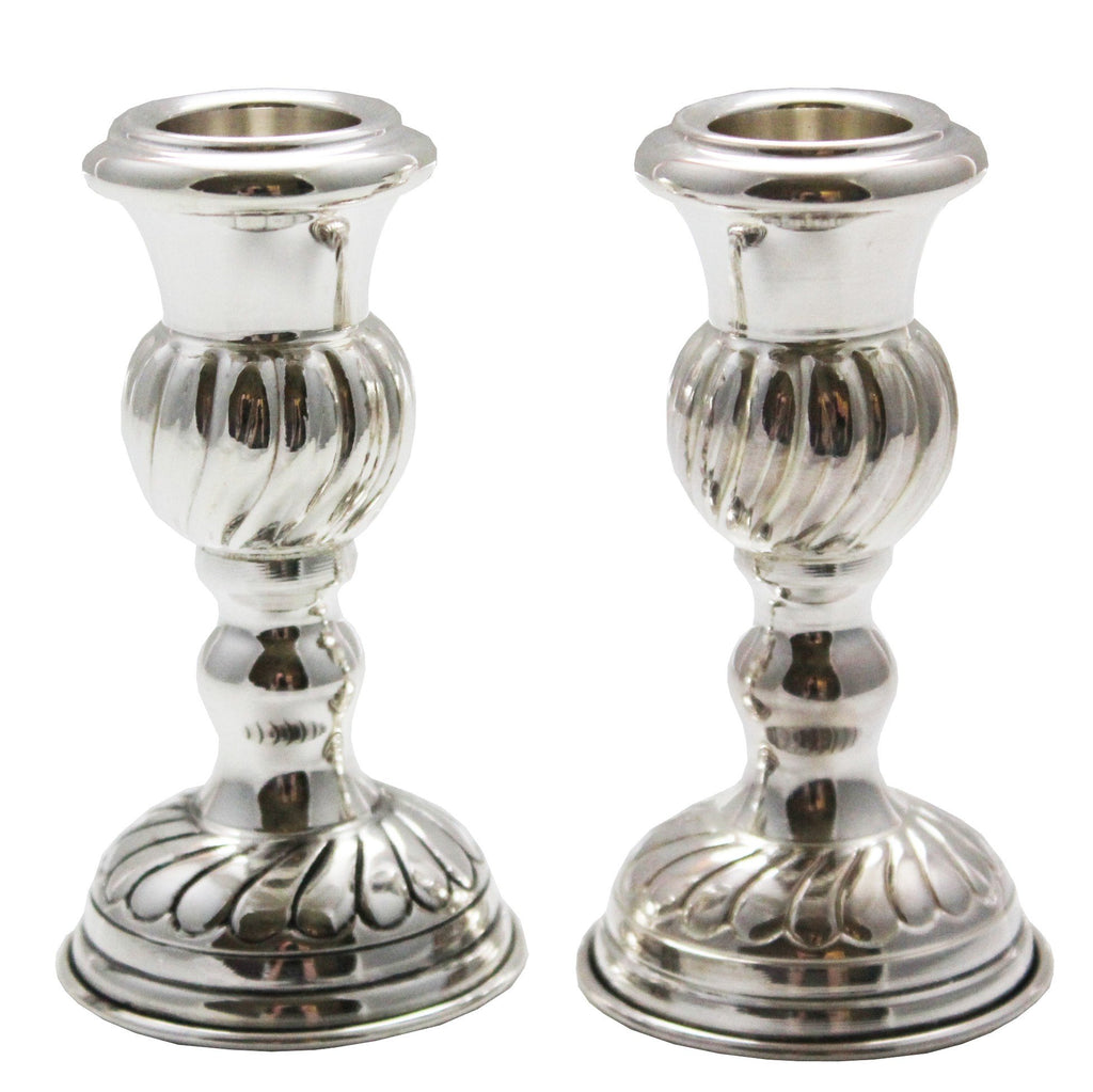 Slanted Lines Sterling Mini Candlesticks