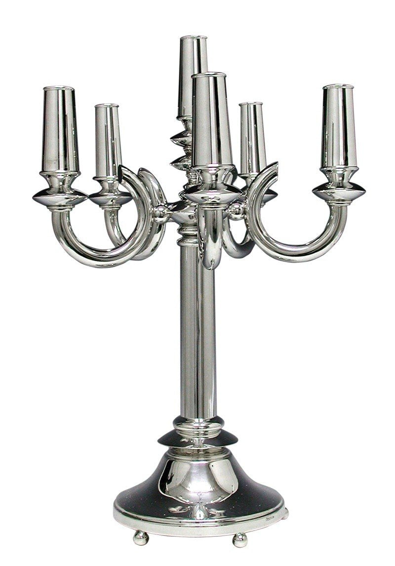 Bagel 6-Light Sterling Candelabra