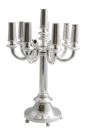 Hadad Sterling Silver 8-light Bagel Candelabra