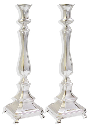"Mozart Smooth 17"" Sterling Candlesticks"