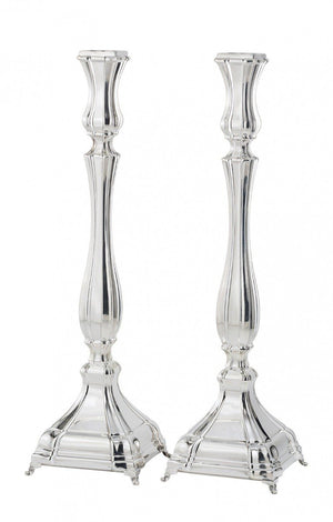 "Snir 15.25"" Sterling Candlesticks"