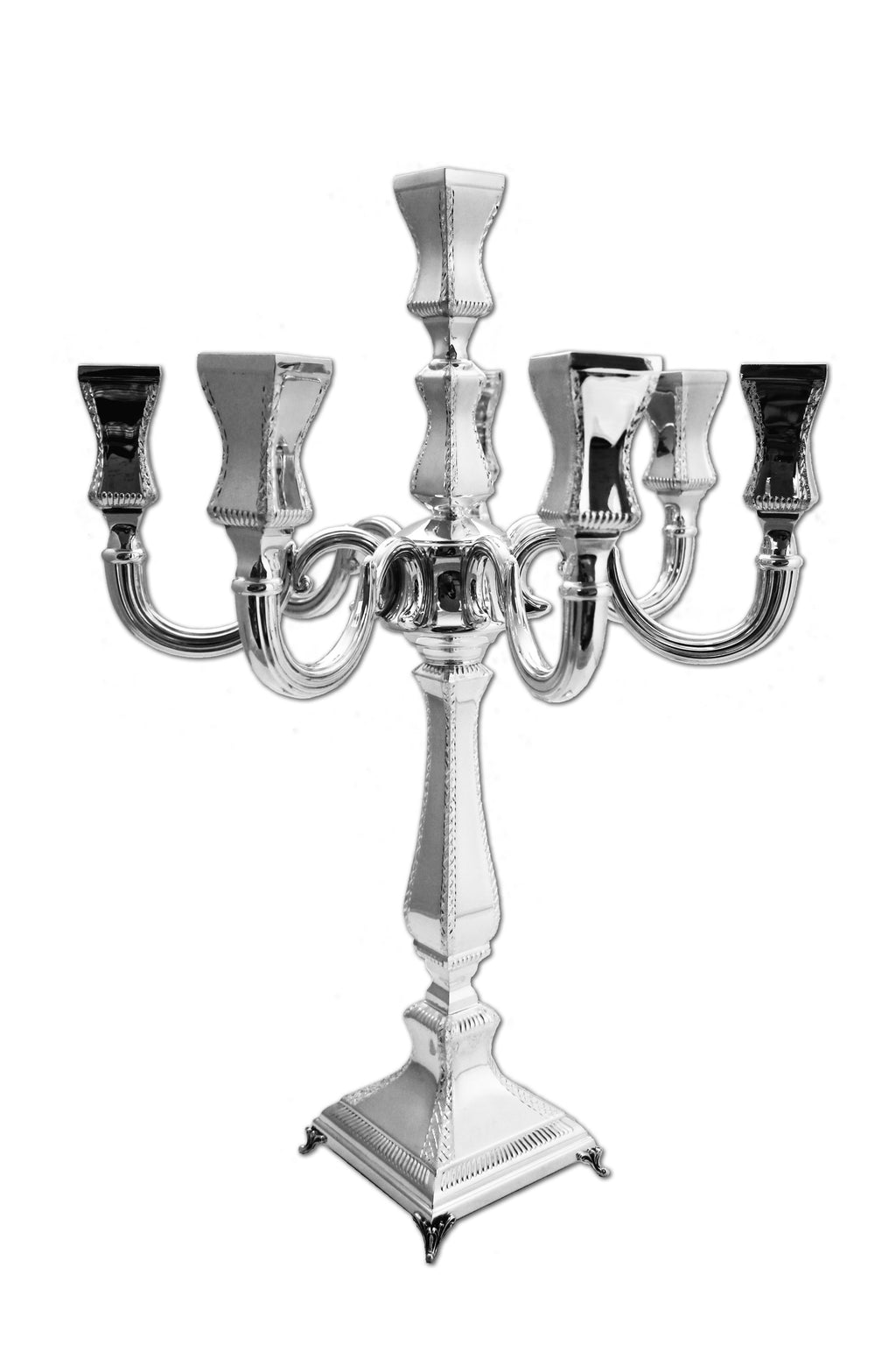 Diamond Engraved 8-Light Sterling Candelabra