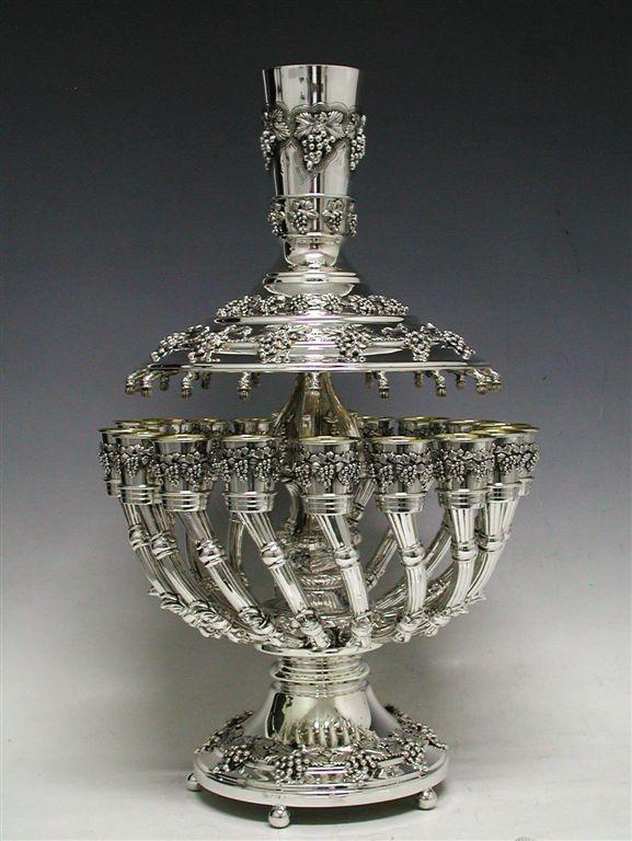 Grapes 18-Cup Sterling Wine Fountain