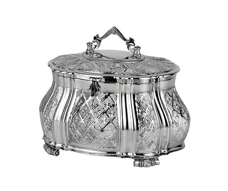Vitrage Diamond Engraved Sterling Esrog Box