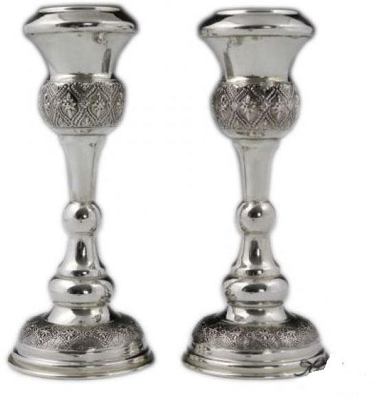 "Parsi 5.75"" Sterling Candlesticks"