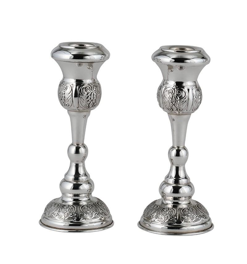 "Damaskus 6"" Sterling Candlesticks"
