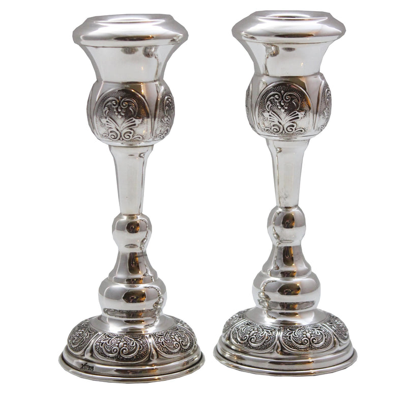 "Shearim 6"" Sterling Candlesticks"