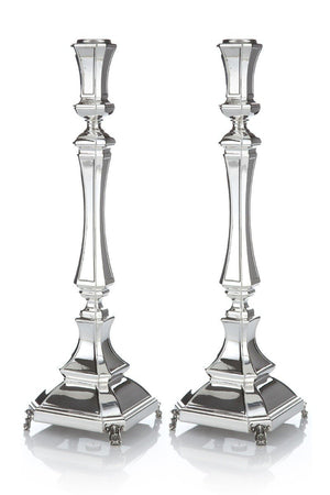 "Mozart Smooth 14.5"" Sterling Candlesticks"