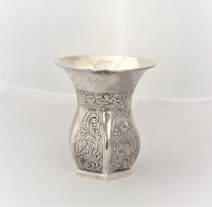 Large Hexagon Barrel Sterling Cup