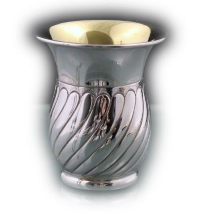 Passim Alexon Barrel Sterling Kiddush Cup