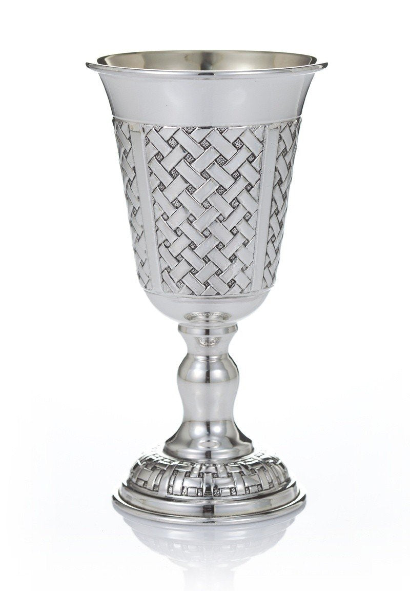 "Ben David 5.5"" Braided Sterling Goblet"
