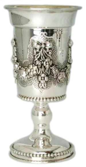 Flower Wreath Zecharia Sterling Goblet