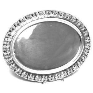 Grape Clusters Oval Sterling Silver Tray