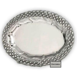 Buot Small Oval Sterling Silver Liquor Tray