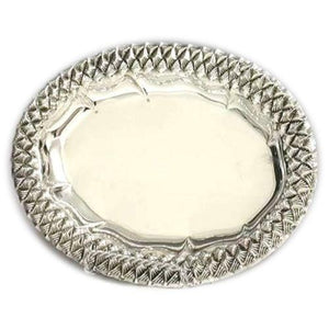 Weave Oval Sterling Silver Liquor Tray 110