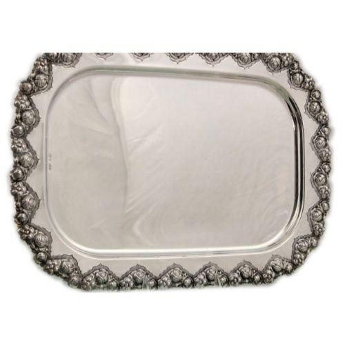 Patat Rectangular Sterling Silver Candlestick Tray