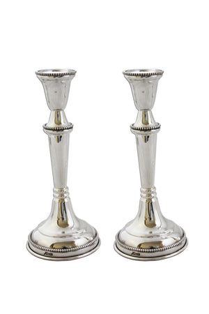 "Konos Beaded 6.25"" Sterling Candlesticks"