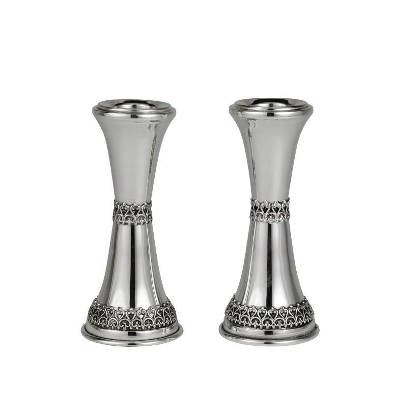"Filigree 4"" Sterling Candlesticks"