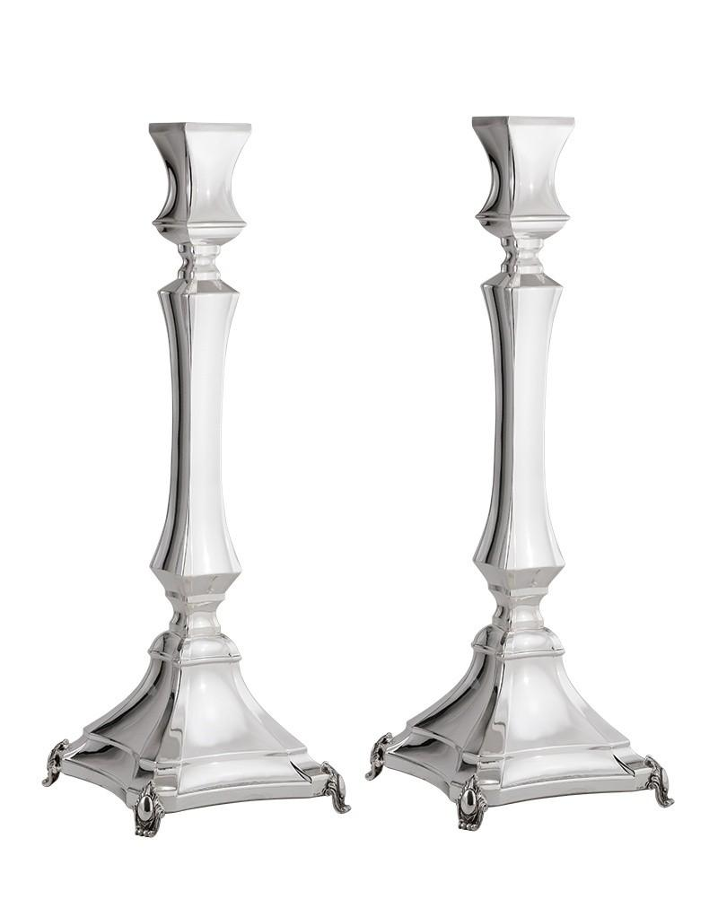"Michaela Smooth 17"" Sterling Candlesticks"