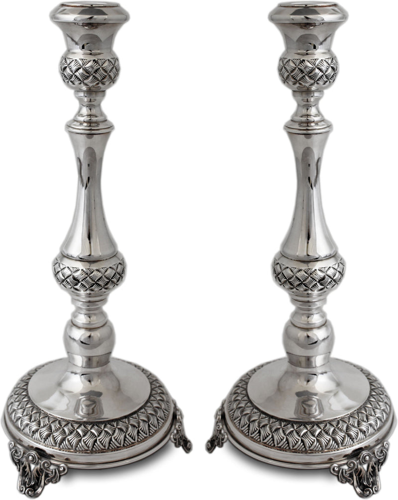 "Chavalim 12.5"" Sterling Candlesticks"