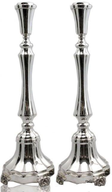 "Smooth Italian 14.5"" Sterling Candlesticks"