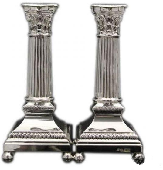"Berlin Passim 7"" Sterling Candlesticks"