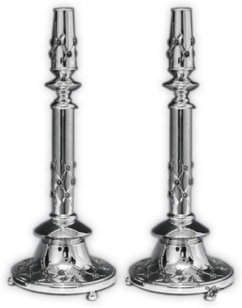 "Bagel XP 15.5"" Sterling Candlesticks"