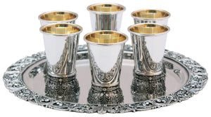 Malchuti Sterling Liquor Set of 6