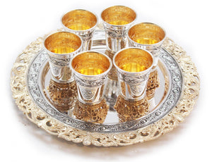 Malchuti Liquor Set of 6 with Tray