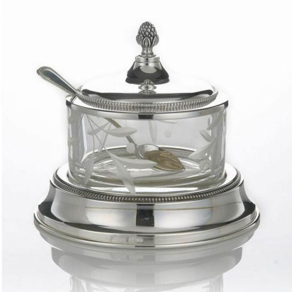 Pearl Sterling Honey Dish