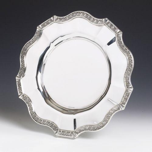 Cobalt Smooth Sterling Silver Liquor Tray