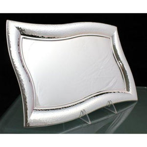 Bolero Hammered Large Sterling Silver Candlestick Tray