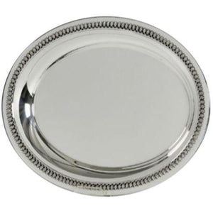 Filigree Oval Sterling Silver Liquor Tray