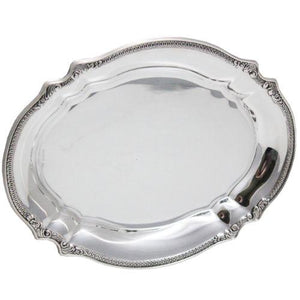 Bellagio Oval Sterling Silver Tray