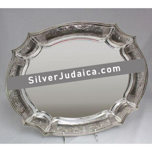 Bellagio Chased Sterling Silver Candlestick Tray