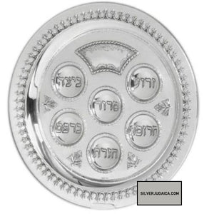 "Filigree 12.5"" Sterling Seder Plate"