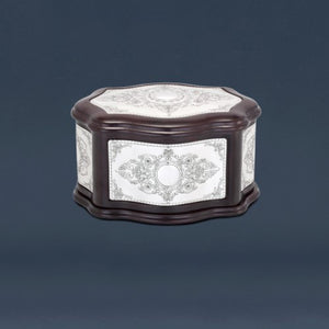 Wood and Silver Esrog Box