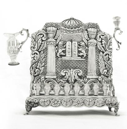 Menorah With Back Ten Commandments