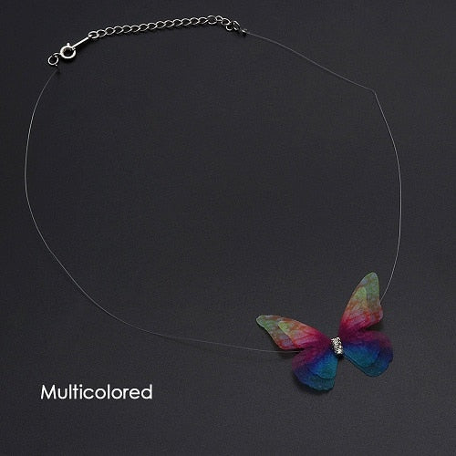 Elegant Crystal Colorful Butterfly Choker Necklace  For Women makes a beautiful Gift