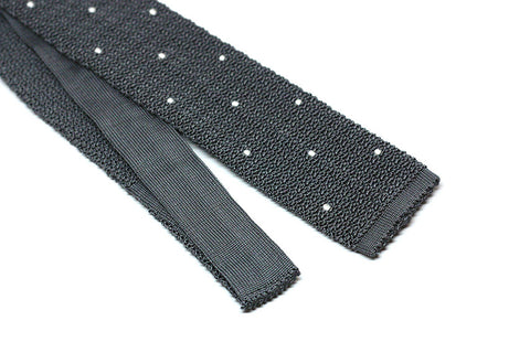 Gray with handsewn white dots