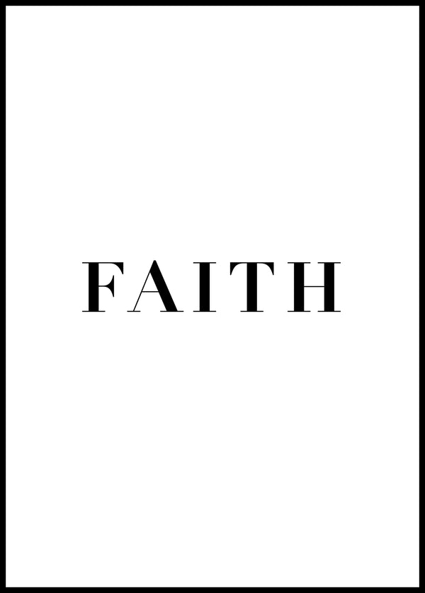 Faith - Christian poster