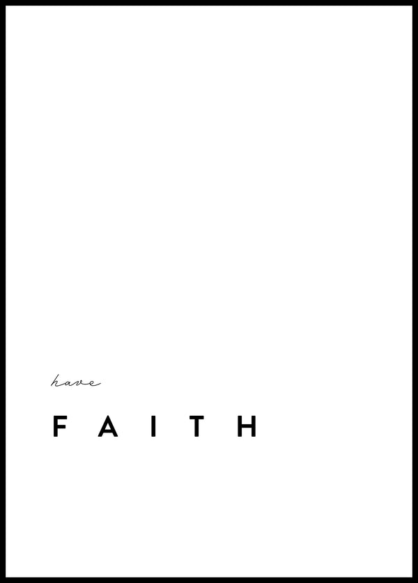 Have Faith - Christian poster