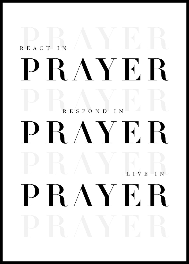 In prayer - Christian poster