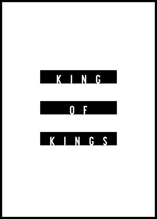 King of kings - Christian poster