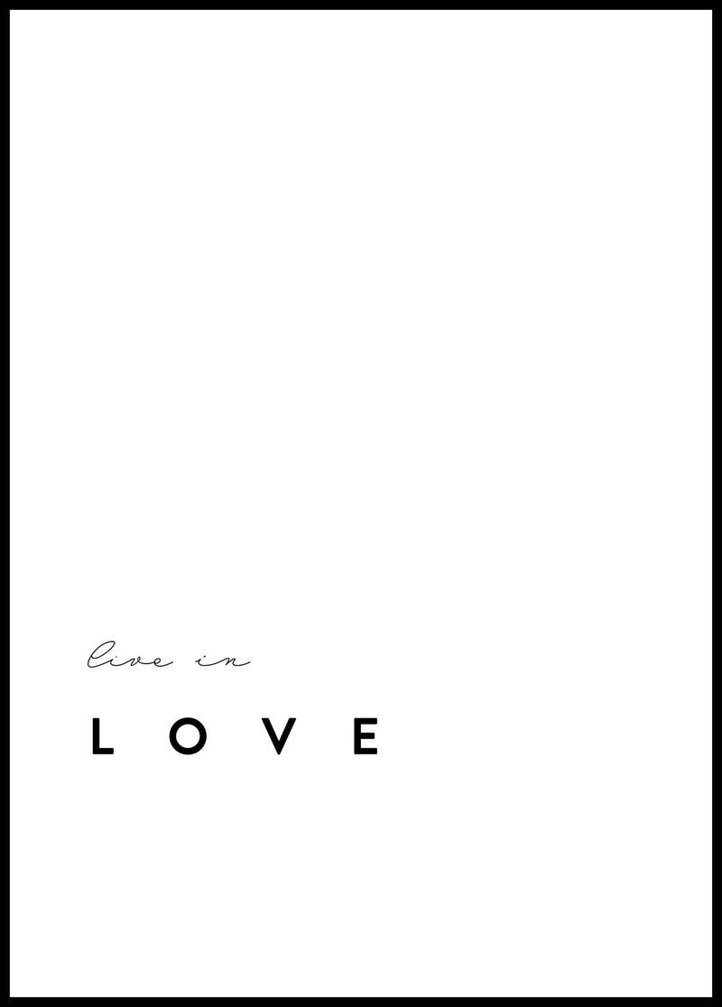 Live in love - Christian poster